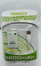 Paquete De Batería Recargable Blanco Xbox 360 3600mAh Reino Unido Stock