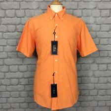 Polo Ralph Lauren para hombre UK L naranja Custom Fit Camisa Informal Mangas Cortas Vacaciones