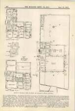 1913 Floor Plan Of Hendon Central Fire Station,craig-y-parc, Pentyrch