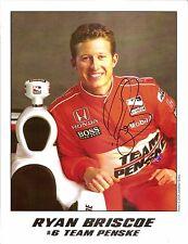 2009 RYAN BRISCOE signed INDIANAPOLIS 500 HERO PHOTO CARD POSTCARD INDY CAR IRL