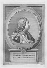 Nicolas de Lorraine Anjou Lorena Pont-à-Mousson - Acquaforte Originale 1700