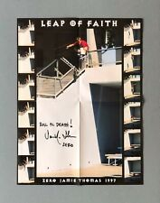 Zero 'Leap Of Faith' Poster Signed by Jamie Thomas