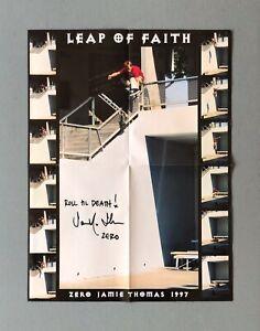 Zero 'Leap Of Faith' Poster Signed by Jamie Thomas
