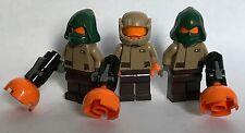 LEGO pezzi originali-STAR WARS - 3 Agenti di resistenza personalizzato-Testa Arancione