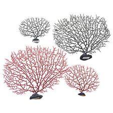 Aquarium Artificial Coral Tree Fish Tank Aquatic Ornament Decor Black/Red 1PC
