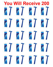 200-Pack Super Max Men's Disposable Razors Twin Blade Shavers Bulk Wholesale