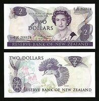 New Zealand 2 Dollars  1985 - 1989 , UNC , P-170b , Sign : Russell