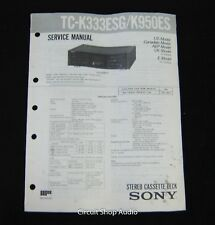 Original Sony TC-K333ESG/K950ES Stereo Cassette Deck Service Manual