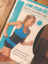 Marika Waist Slimmer Belt Black Adjustable Lower Back Support SHIPS FREE