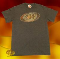 New A&W Rootbeer Mens Brown Classic Retro T-Shirt
