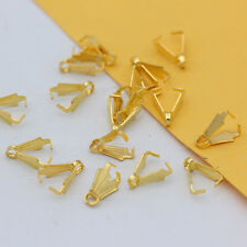 100 pinch bail findings small hole hook clasps connector DIY earring Jewelry 5x8
