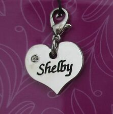 bb Shelby HEART NAME CHARM for bracelet CHERISH CHARMS lobster closure jewelry