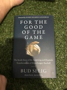 Bud Selig signed book Baseball Hall of Fame