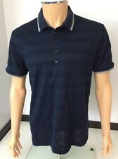 Hugo Boss Mercerised Mens Polo T Shirt, Size Large, L, Slim Fit, Blue, Vgc