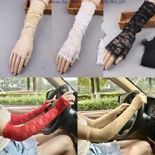 Girl Summer Sunscreen Lace Gloves Women Arm Sleeve Drive Oversleeves Mittens