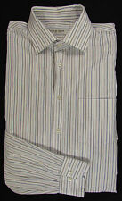 Jacques Britt Gestreifte Maschinenwäsche Klassische Herrenhemden aus Baumwolle