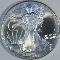 1998 American Silver Eagle - One Troy Ounce .999 Pure - UNC b36
