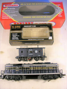 Williams GP405 B&O GP9 #5612 w/ Electronic Horn, + K-Line Lighted Caboose, C8