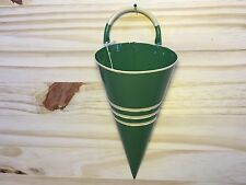 Tenderheart Treasures GREEN & YELLOW Hanging Wall Cone Wall Pocket NEW