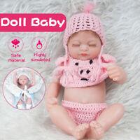 28CM Reborn Girl Baby Dolls Handmade Full Body Lifelike Toy Vinyl Silicone Q