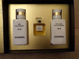 Chanel No. 5 Gift Set - NEW 15ml Eau de Parfum, Gel Moussant & body creme200ML