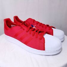 Adidas Originals Superstar Mens Shoes Two Tone Mesh Red Pink BY8711 Size US 10.5