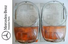 MERCEDES PAGODA W113 HEADLIGHT SET OF 2 WITH FRAME NEW OEM 230SL 250SL 280SL NOS