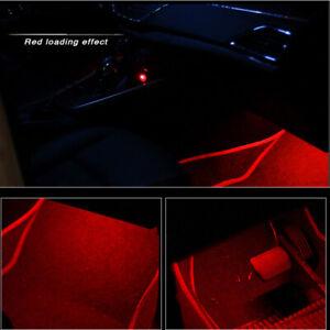 Red LED Car Interior Accessories Floor Decora Atmosphere Strip Lamp Lights