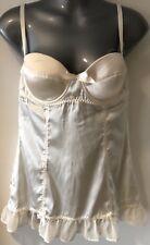 Victoria's Secret Vanilla Satin Stretchy Underwired Chemise Babydoll 36C