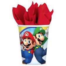 Super Mario Party Becher 266 ml Kindergeburtstag Set Tisch Deko Dekoration
