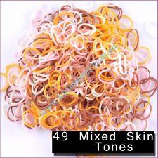 Rainbow Loom Bands 600 PCs 24 Clips Refills Bands Loom Flesh Skin Tone Refill
