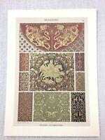 1883 Antique Print Byzantine Art Design Ornamental Work Bamberg Cathedral