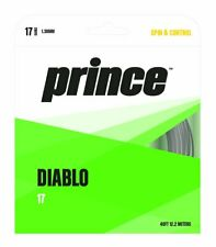 Prince Diablo 17 Tennis String (Black) Authorized Dealer w/ Warranty