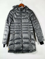 Lole Womens Medium Gray Puffer Jacket Down Fill Quilted Parka Zip Up Winter Coat