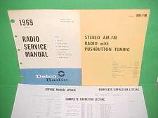 1969 CORVETTE CAMARO Z-28 FIREBIRD GTO DELCO AM-FM STEREO RADIO SERVICE MANUAL
