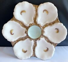 Stunning Rare Antique H & C 1880's Haviland Limoges Oyster Plate Blue 9 in