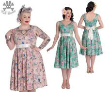 Hell Bunny 3 COLOUR Lacey Rockabilly Pinup Swing Retro Vintage 50's Dress XL-4XL