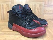 5a6e60aa6 RARE🔥 Nike Air Jordan XII 12 Retro Flu Game Black Varsity Red 151186-002