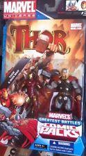 Marvel Universe Greatest Battles Figures 2-Pack w/ Comic -Thor Vs Iron Man