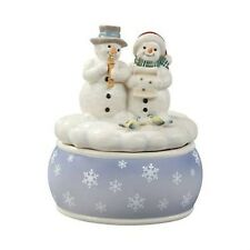 GOEBEL  White Minstrels Musician Snowmen Figurine Musical Ornament NEW 18641