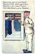 Z 66 - Reservistenkarte WW1, Spruch mit Spind, Feldpost 1917