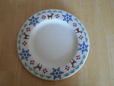 Pfaltzgraff USA NORDIC CHRISTMAS Set of 2 Dinner Plates Blue Brown