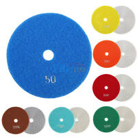 125mm/5 inch Wet/Dry Diamond Polishing Pads Marble Stone Concrete Grinding Discs