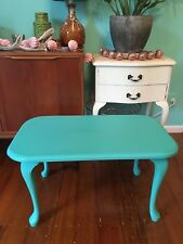 Shabby vintage French retro coffee table chic~ Queen Anne~ upcycled