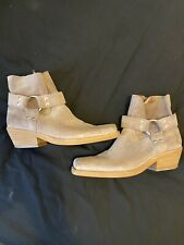 Jeffrey Campbell women 8.5 taupe suede booties Square toes Uk 6.5 (39)