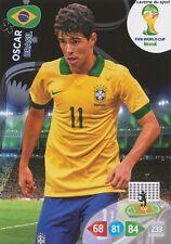 N°054 OSCAR # BRAZIL PANINI CARD ADRENALYN WORLD CUP BRAZIL 2014