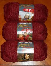 Bernat Softee Chunky Yarn Lot Of 3 Skeins (Redwood #28522)