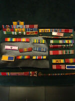 NICE LOT WWII USMC US NAVY MEDAL RIBBON BARS MARINE CORPS PINS