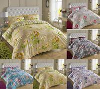 Luxury 200TC Floral  Printed Cotton Quilt Duvet Cover Pillow Cases Set