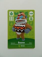 328 Boone, Animal Crossing Amiibo Card Series 4, US, No 328, NEW AUTHENTIC
